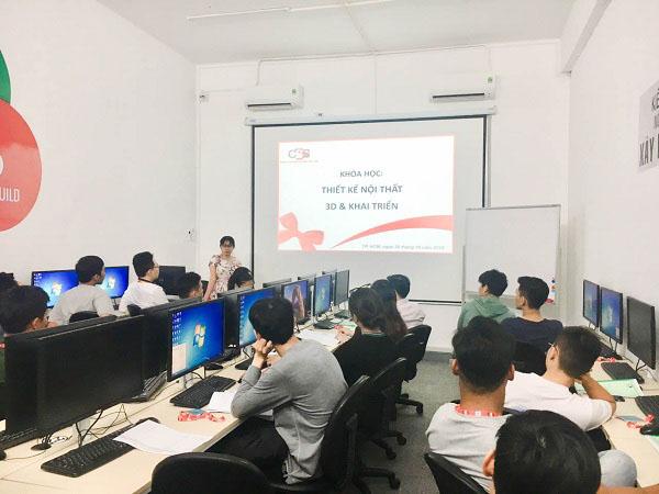Hình ảnh khai giảng lớp THIẾT KẾ NỘI THẤT 11 THÁNG khóa 10.2019
