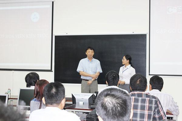 Chủ tịch HĐQT CBS Japan ghé thăm lớp họa viên kiến trúc