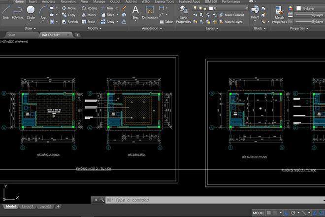 Phương pháp thể hiện hồ sơ khai triển kiến trúc nội thất
