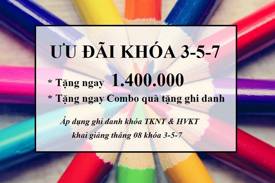 ƯU ĐÃI GIẢM 1.400.000 KHI GHI DANH KHÓA 3-5 THÁNG 08.2019