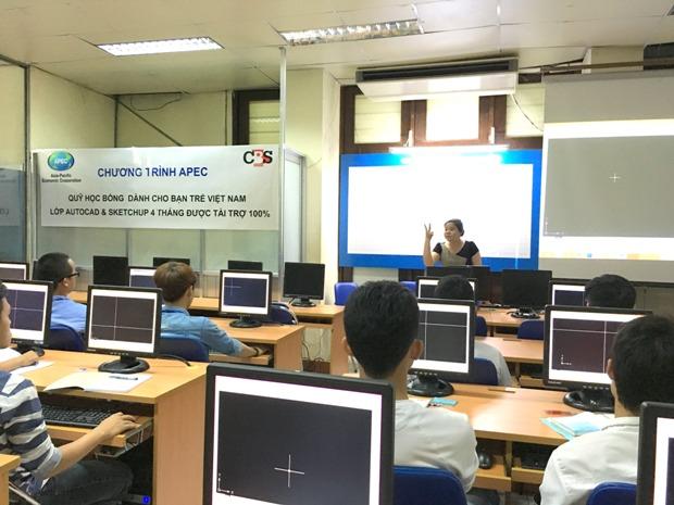 Bắt đầu lớp autocad, sketchup được APEC tài trợ 100%